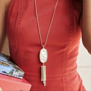Kendra Scott long pendant necklace ivory pearl